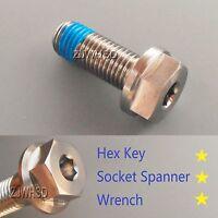 M10 X 1.5 X 25 Titanium Ti Screw Bolt Socket Cap Hexagon Hex Flange Head +blue