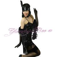 Flapper Fancy Dress Charleston Costume Gatsby Womens Plus Size 1920s 20s BOA Hen