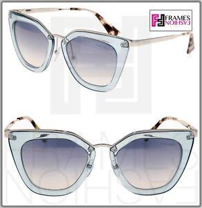 0b430bcea0493 Image is loading PRADA-CINEMA-EVOLUTION-Sunglasses-53S-Translucent-Azure- Silver-