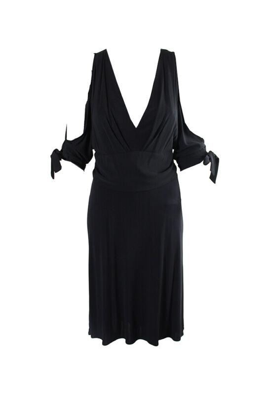 2019 Mode Bebe Schwarz Ärmellos Schulter Empire-waist A-linie Kleid S Spezieller Sommer Sale