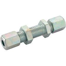 Hydraulic Compression Equal Bulkhead Tube Connector 6mm 6L DIN2353 Pk2