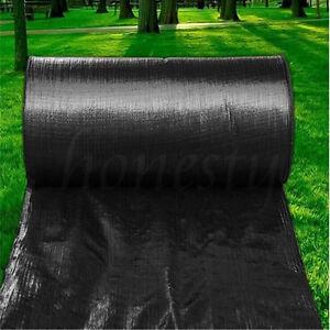 5 10 15m membrane landscape weed control fabric ground cover barrier block mat ebay. Black Bedroom Furniture Sets. Home Design Ideas