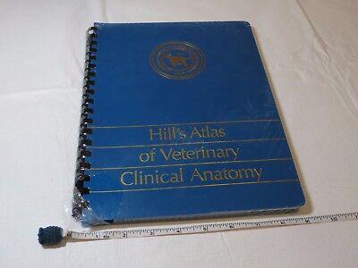 Hill's Atlas of Veterinary Clinical Anatomy textbook Vet dog cat health book