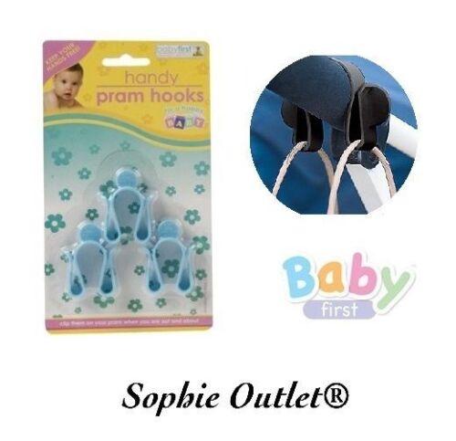 3x Pack Universal Baby Primera Cochecito ganchos de cochecito de niño Buggy Shopping Bag Momia Clips