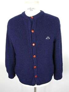 KAPPA-Cardigan-VINTAGE-in-LANA-MADE-IN-ITALY-Maglione-Cappotto-Pullover-Tg-M-Man