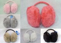 Women's Girls Ear Muff Soft Plush Behind Head Ear Warmers Fluffy Hat Head Band