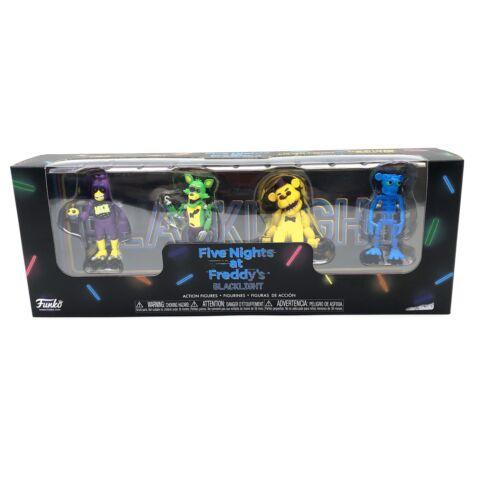 Cinq Nights at Freddy/'s lumière noire Lot de 4 FunKo Series 1 Figures new in box