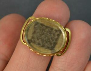 Early-georgiano-Cristal-De-Roca-18ct-oro-Slider-with-hair-d2036