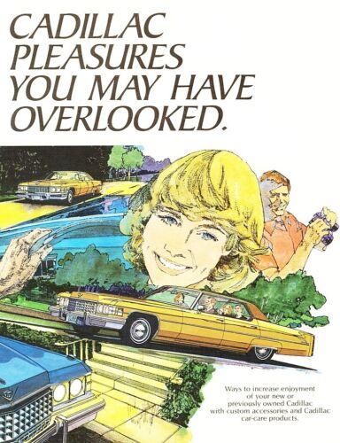 1974 Cadillac DeVille Eldorado Fleetwood Calais Accessories Sales Brochure