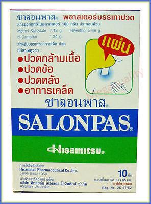 Salonpas Effective Aches Pain Relief Patch Plaster Neck Shoulders 10 Pcs.