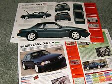 RARE-1992 MUSTANG LX 5.0 NOTCHBACK SPEC INFO POSTER BROCHURE AD 87-93 COUPE