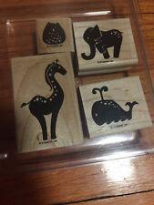 stampin up ANIMAL STORIES whale giraffe elephant owl
