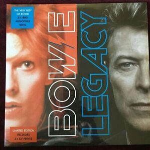 "DAVID BOWIE VINYL legacy LP x2 SEALED COMPILATION w/ Ltd 12"" Prints 180 gram UK"