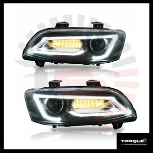 Holden-VE-Commodore-Headlights-PAIR-Sequential-Indicator-Series-1-Series-2