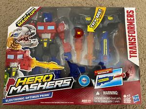 Transformers Hero Mashers Electronic Optimus Prime Figure - NEW -