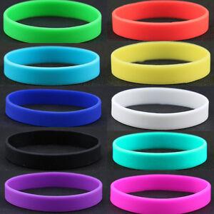 Fashion-Silicone-Rubber-Elasticity-Wristband-Wrist-Band-Cuff-Bracelet-Bangle-NEW