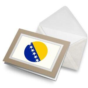 Greetings-Card-Biege-Bosnia-amp-Herzegovina-Flag-9126
