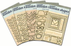 Girls Selection 5 Pack SewingCrowns ... Laser Cut Wooden Shapes Stencils