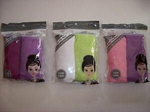 Body-Oasis-Turban-Twin-Pack-Hair-Towel-Quik-Dry-Bath-Spa-Terry-Select-Color-OSFM