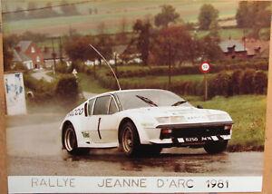 130 . 1 X Photo . Rallye Jeanne D'arc . Renault Alpine . 1981 . Format : 18 X 24