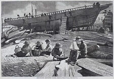 Winslow Homer Prints and Drawings: Ship Building, Gloucester : Fine Art Print