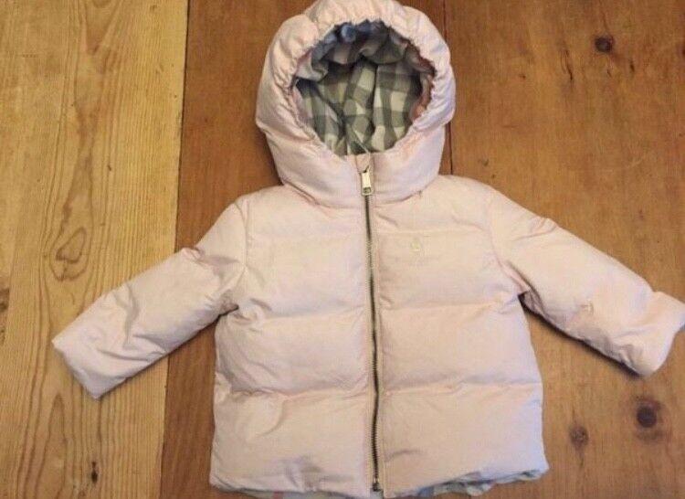 Baby Burberry Puffer Ice Pink 3 Monate Check Nova Jacke Winter