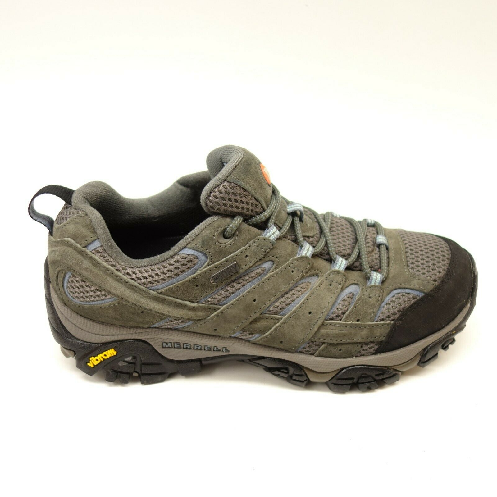 Merrell Mujer Moab bajo gris Azul Senderismo Impermeable