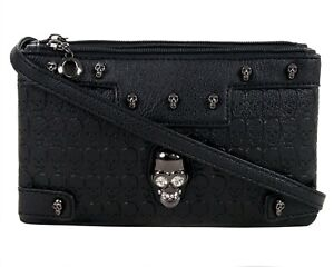 GOTHX-SKULL-CRYSTAL-HEAD-Ladies-Handbag-Clutch-Evening-Rock-Goth-Gothic-Bag