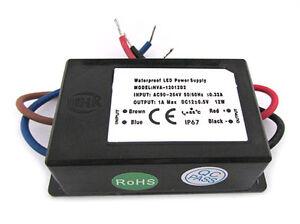 Alimentacion-Transformador-CV-Impermeable-IP67-12V-12W-1A-Para-Luces