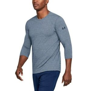 eb024ca991 Details about Under Armour Men's Academy Blue UA Siro 3/4 Sleeve Crew-Neck  Fitted T-Shirt