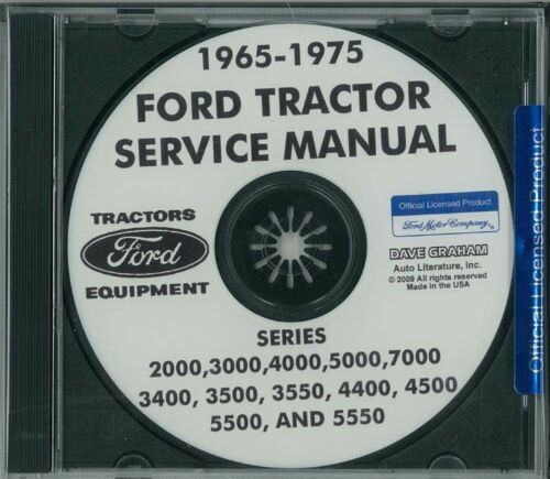 1965-1975 Ford Tractor 2000-7000 Shop Service Service Repair Manual CD Factory
