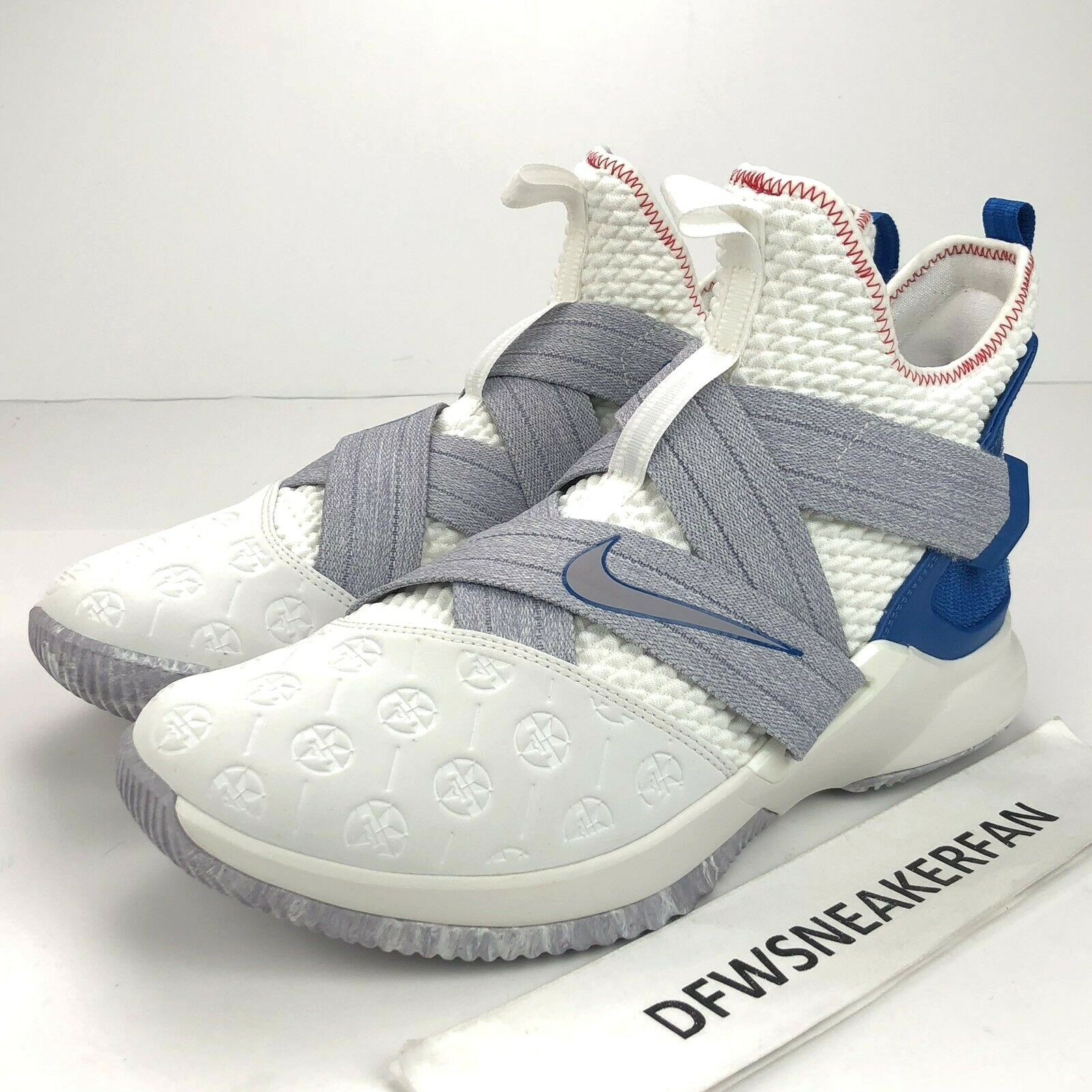 f41613d5852 Nike Lebron Soldier XII 12 Men s Men s Men s 10.5 Basketball shoes White  blueee AO2609 101 NEW