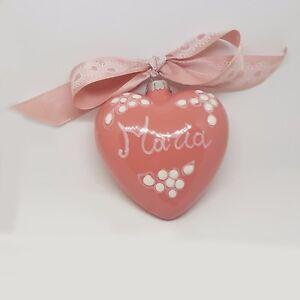 Pallina-Cuore-3d-di-natale-ceramica-vietri-fatta-a-mano-Rosa-personalizzata
