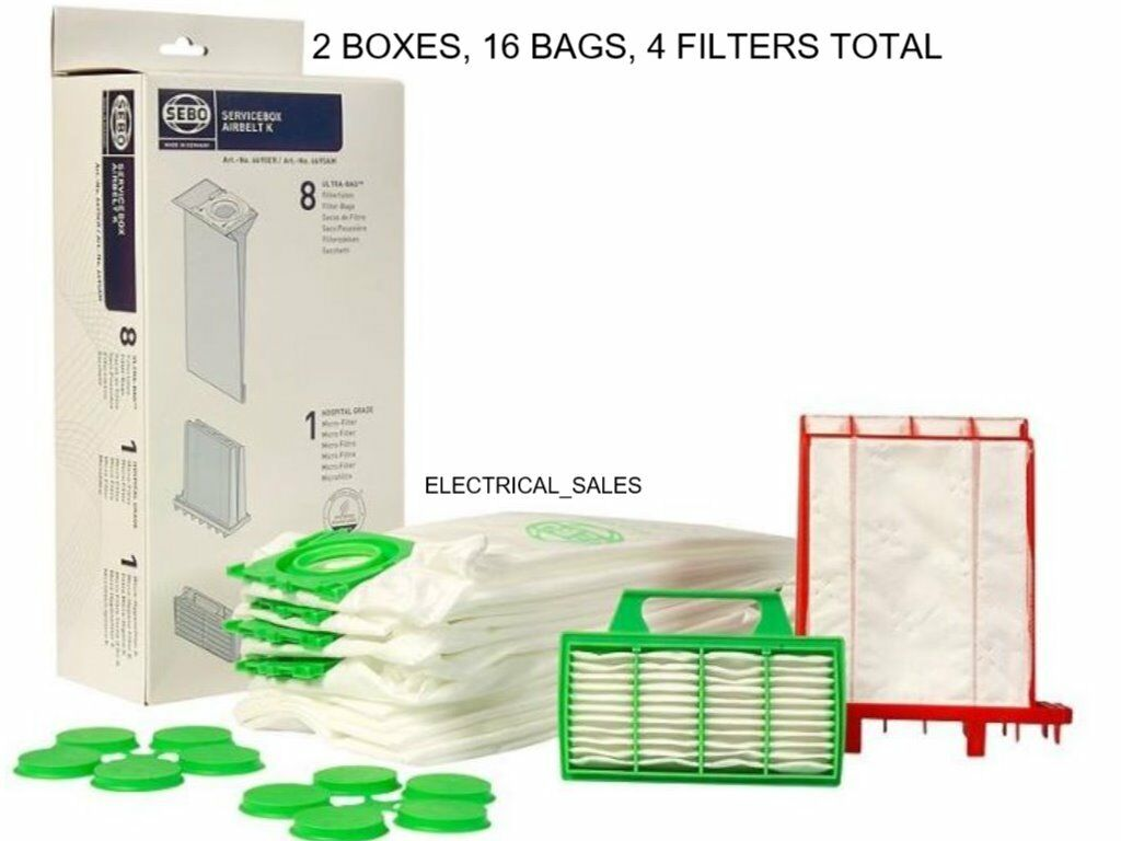 SEBO 6695ER K SERIES K1 K3 SERVICE BOX BAGS AND FILTERS - x 2 BOXES GENUINE PART