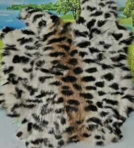 Soft Black Genuine Natural Rabbit Skin Fur Pelt Leather Hide Crafts Decor Native
