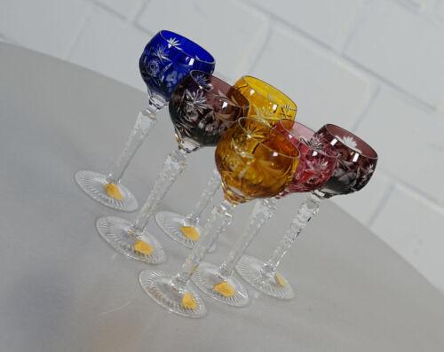 6 x Nachtmann Traube Bleikristall Likör Römer Cherryglas Likör Glas Vintage 60er