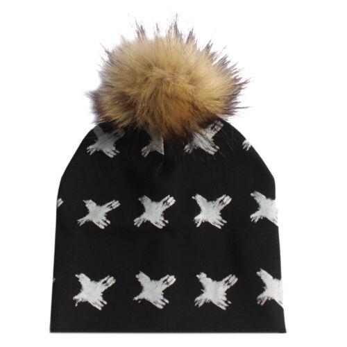 New Toddler Kids Baby Girl/&Boy Infant Winter Warm Detachable Pompom Ball Hat