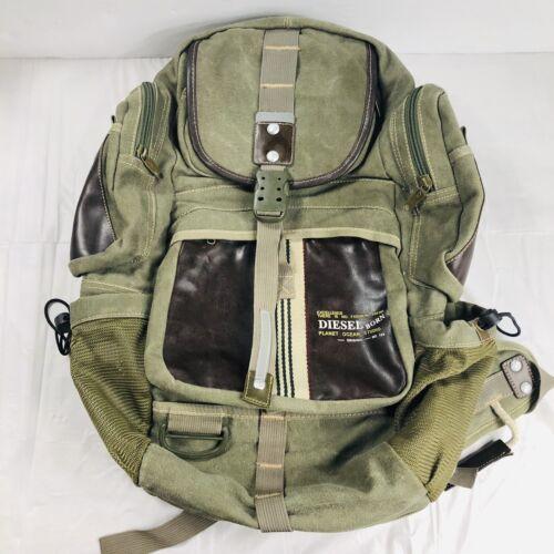 Diesel Backpack Rucksack Green Diesel Spare Parts