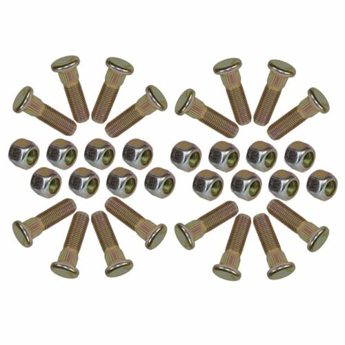 "Pack of 16 3//8/"" UNF Wheel Studs And Nuts For 4/"" PCD Trailer Suspension Hubs"