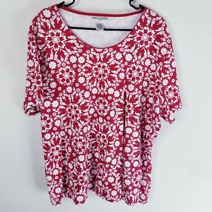 Rebecca-malone-woman-3x-plus-short-sleeve-floral-shirt-top-scoop-neck-tropical