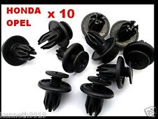 Honda Accord Prelude Push-Type Bumper Replacement Black Plastic Clips T42