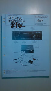 kenwood krc 430 service manual original repair book car stereo radio