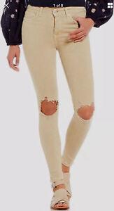 Ob794632 Knee Busted skinny Jeans libere kaki Persone in Bw57qTBA
