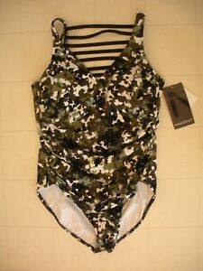 c313ae4780 Magicsuit by MIRACLESUIT Olive Green G.I. Jane Steffi 1-Pc Swimsuit ...