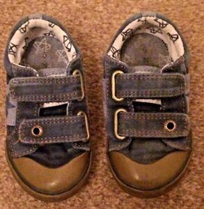Boys-Next-Blue-Velcro-Shoes-Size-5-SB2