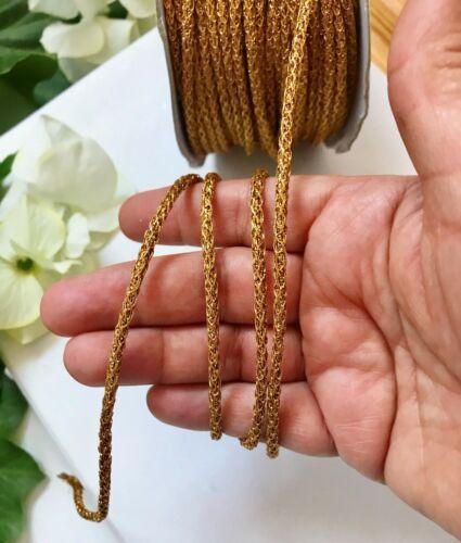 4 Meters Latest Indian Antique Gold Glitter soft dori cod craft Latkan tie back