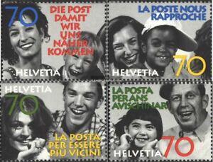 Schweiz-1625-1628-kompl-Ausg-postfrisch-1997-Die-Post
