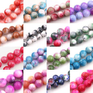Lots-Colorful-Gem-Round-Loose-Spacer-Beads-Stone-DIY-Jewellery-Making-Crafts