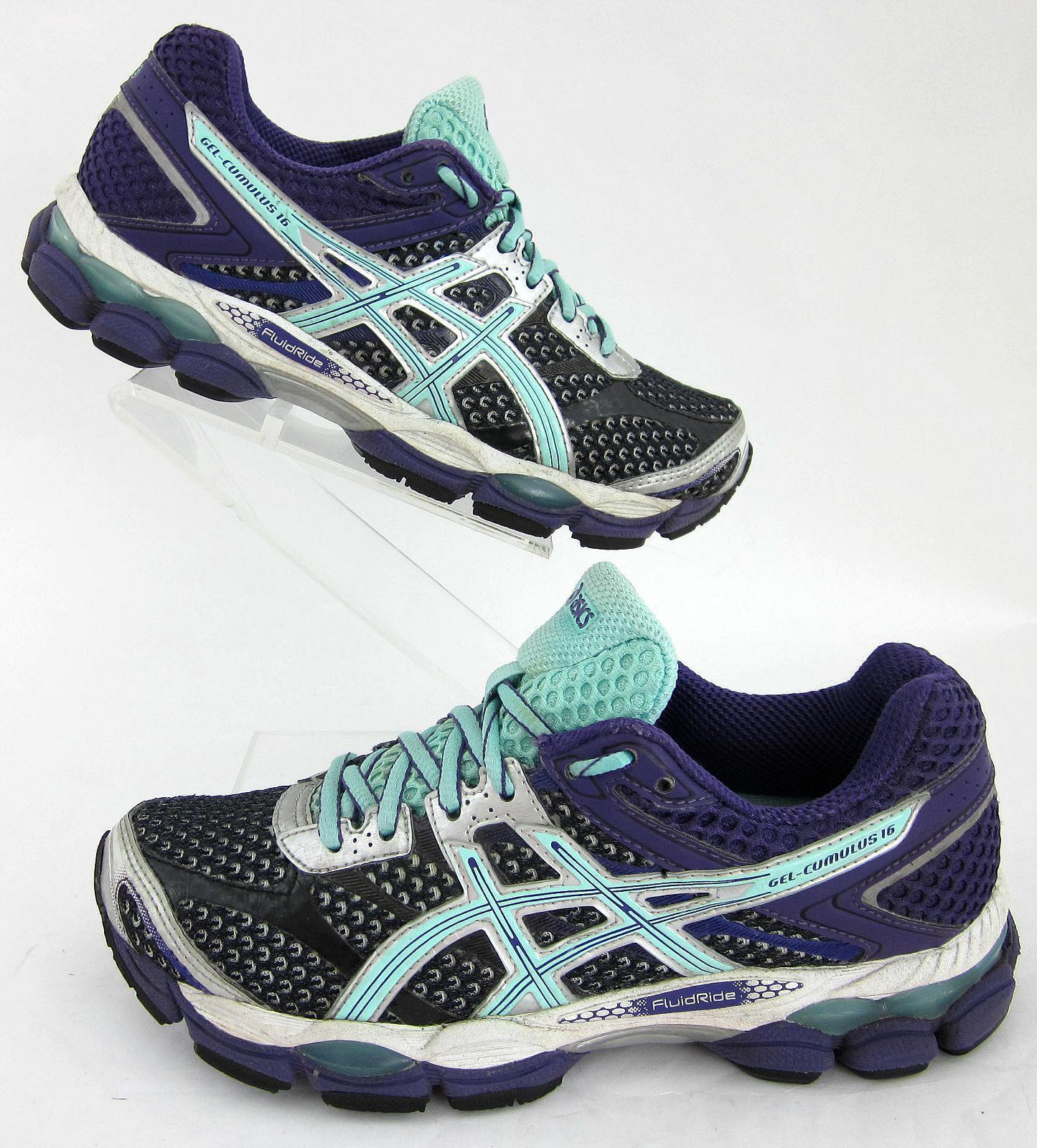 Asics Gel-Cumulus 16 femmes  Running  Chaussures  Onyx Beach Glass  Violet  Sz 6