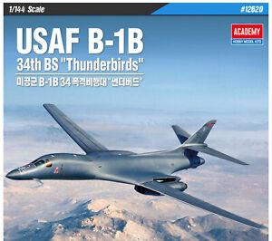 ACADEMY-USAF-B-1B-34th-BS-thunderbirds-12620-1-144-Plastic-model-set